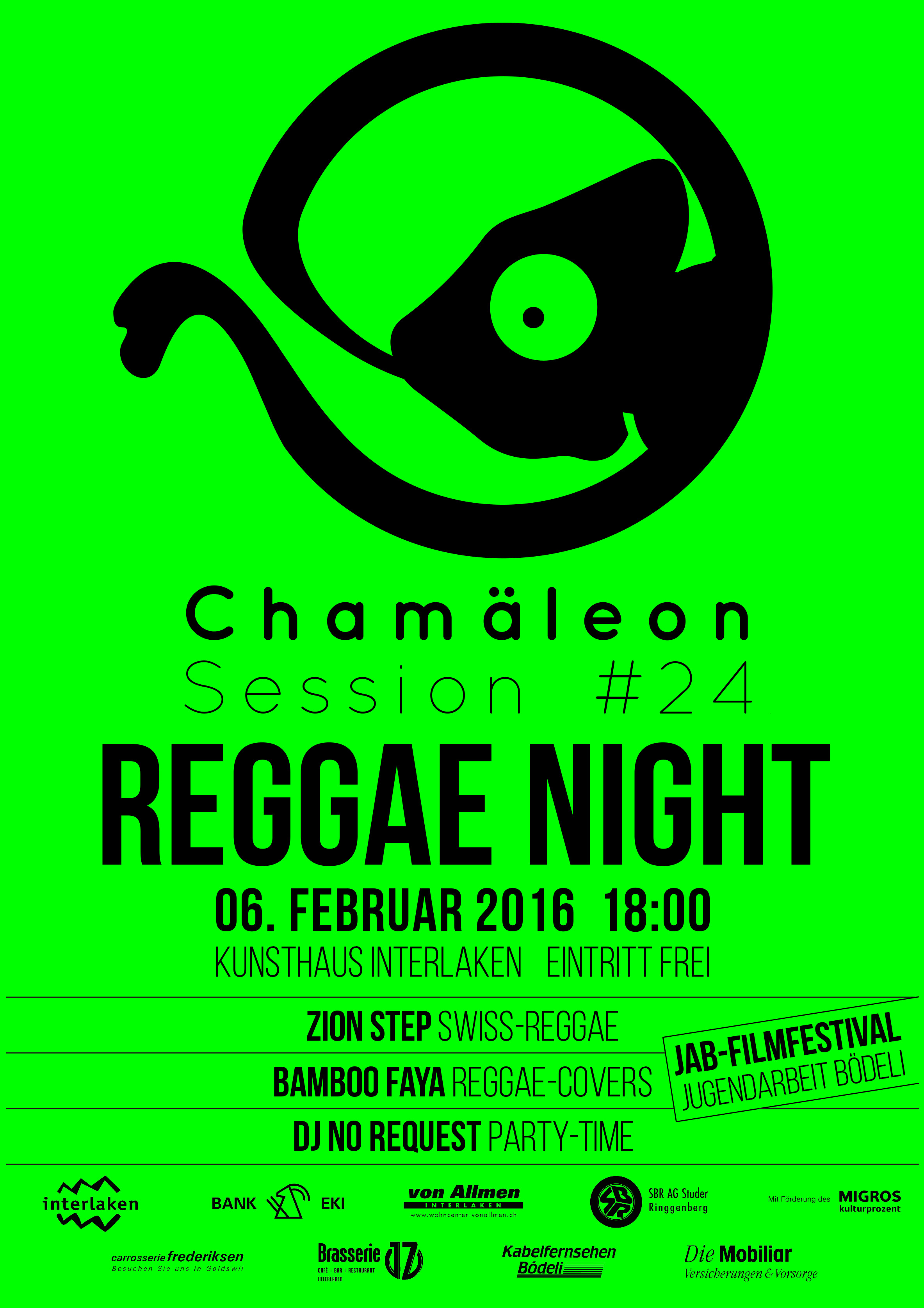 Plakat-160206-Reggae-Night Chamäleon Sessions