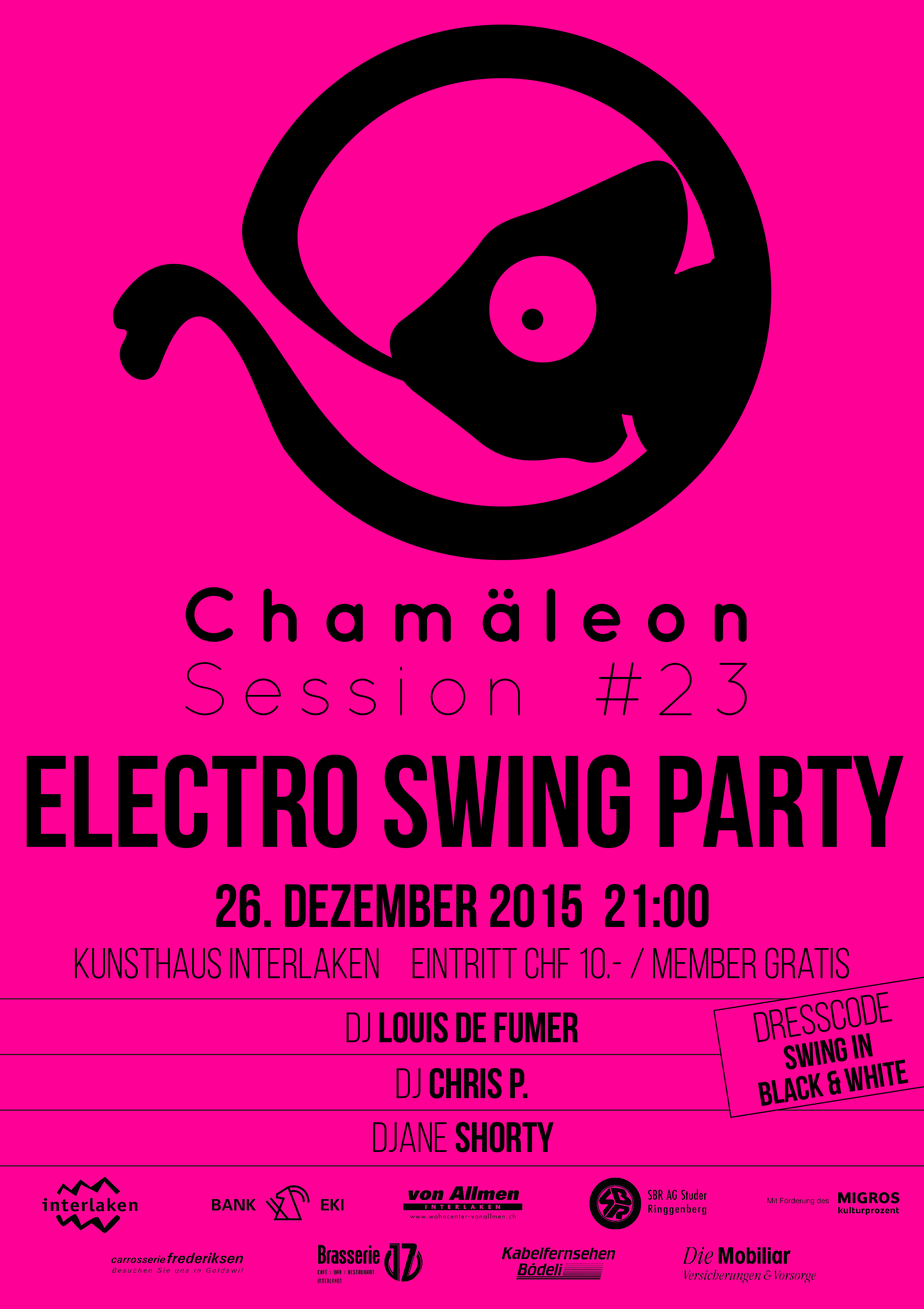 Plakat-151226-Chamäleon Sessions Electro Swing Party