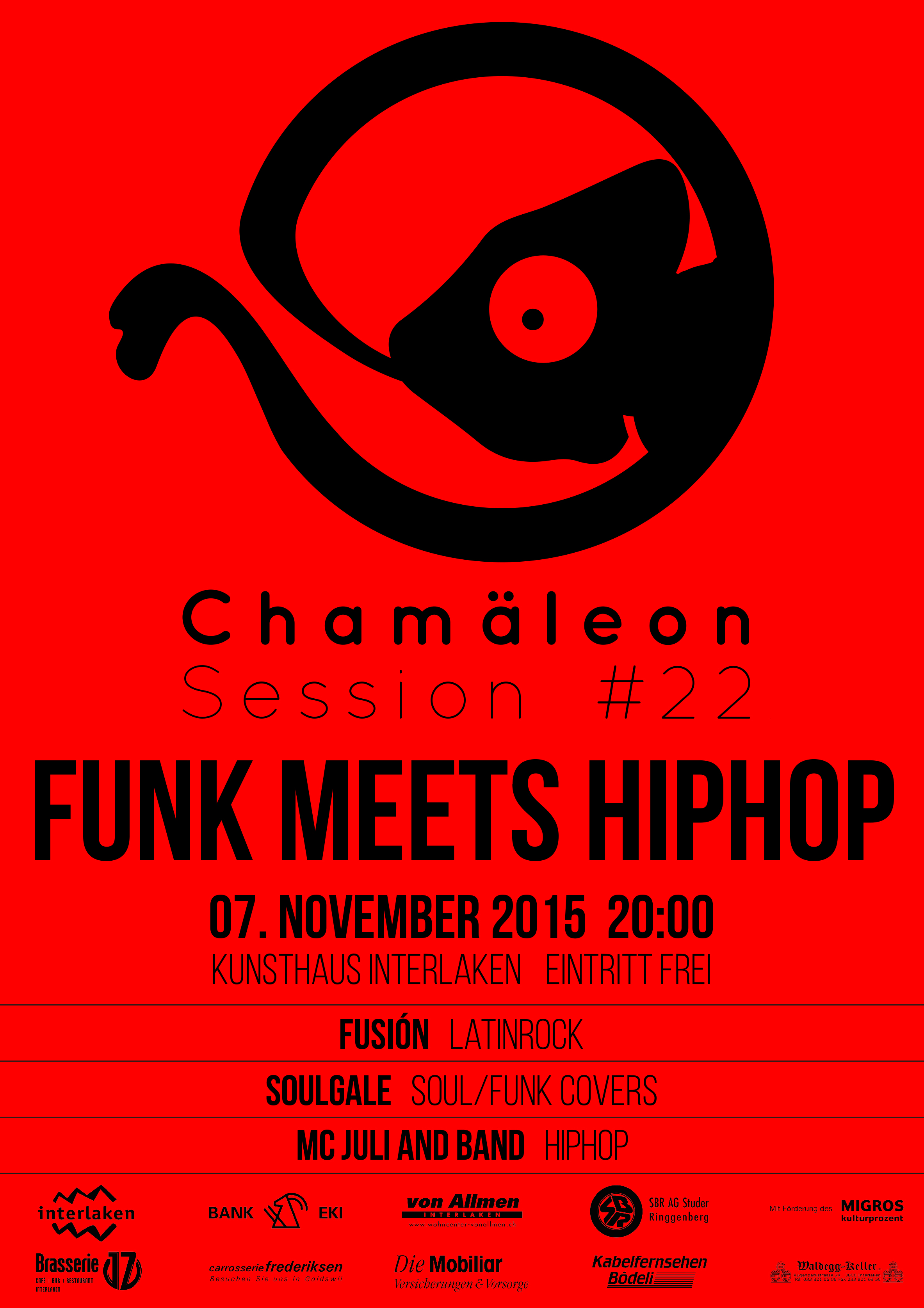 Plakat-Session 22 Funk meets Hiphop